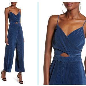 ASTR Midnight Blue Dressy Jumpsuit